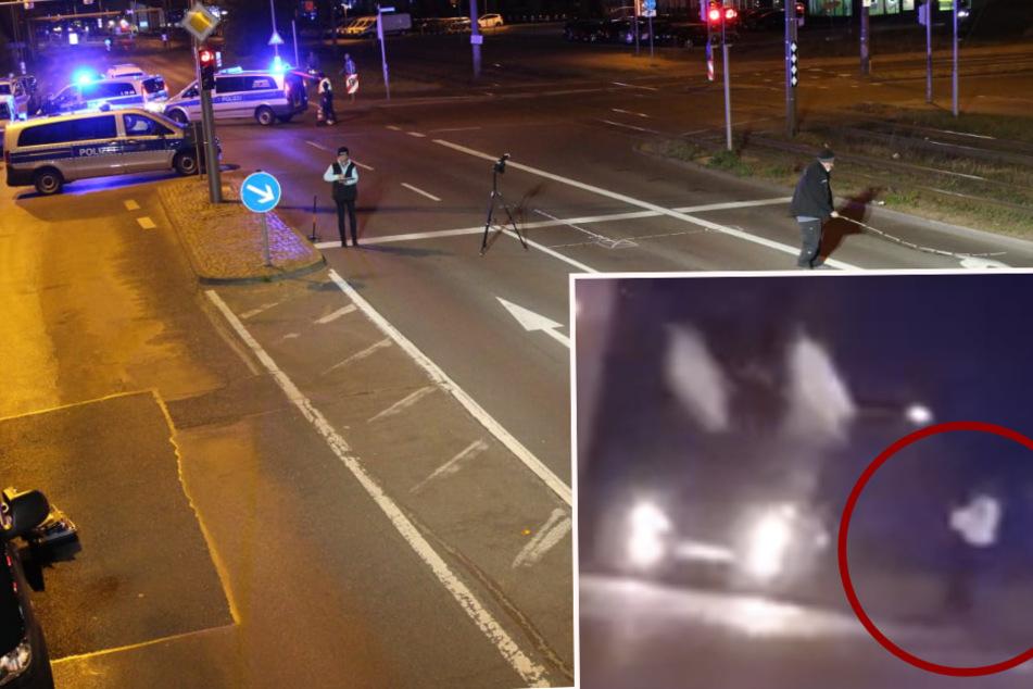Leipzig: Video aus Leipzig: Hier schießt ein Polizist auf ein flüchtendes Auto
