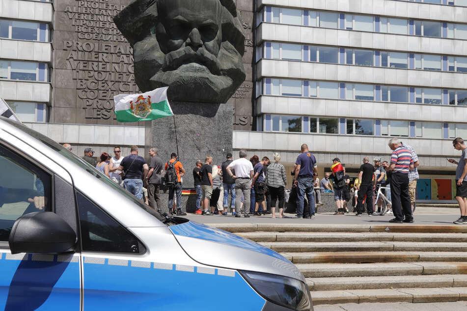 """Die rechte Bürgerbewegung """"Pro Chemnitz"""" wollte am 20. April am Nischel demonstrieren (Archivbild)."""