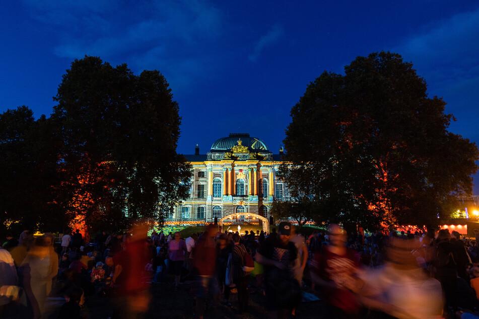 Der Palaissommer in Dresden.