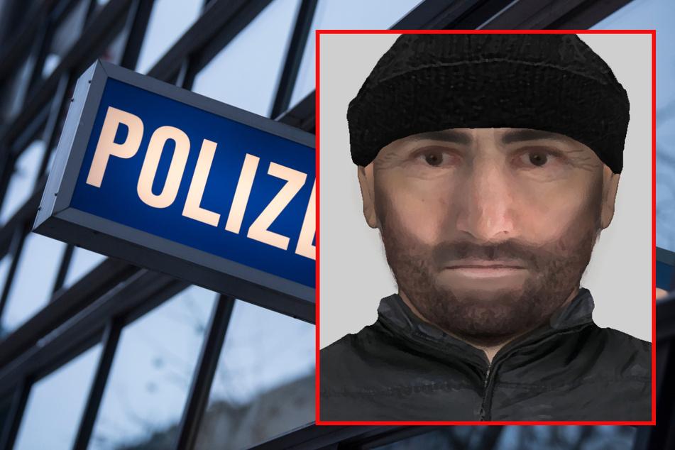 Die Polizei sucht nun öffentlich nach dem Räuber.
