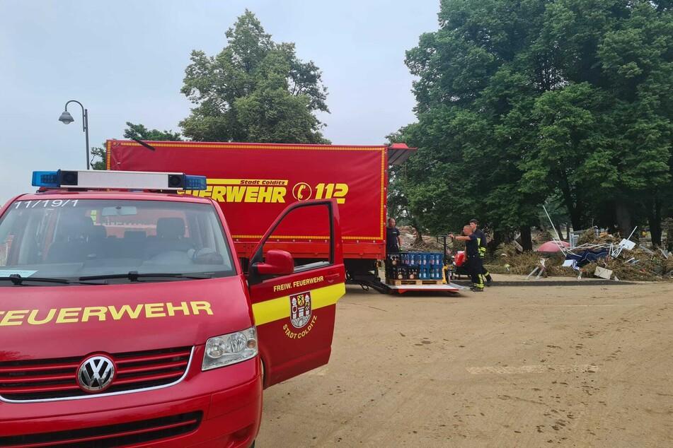 Der Helfertrupp aus Grimma und Colditz ist seit Samstagmorgen dabei, die Menschen in Ahrweiler zu unterstützen.