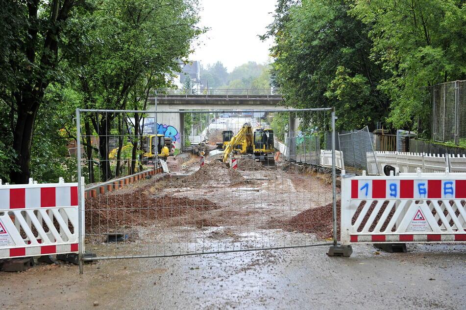 Ab Montag wird die Stelzendorfer Straße voll gesperrt. Bis Anfang August werden Gasleitungen verlegt. (Archivbild)