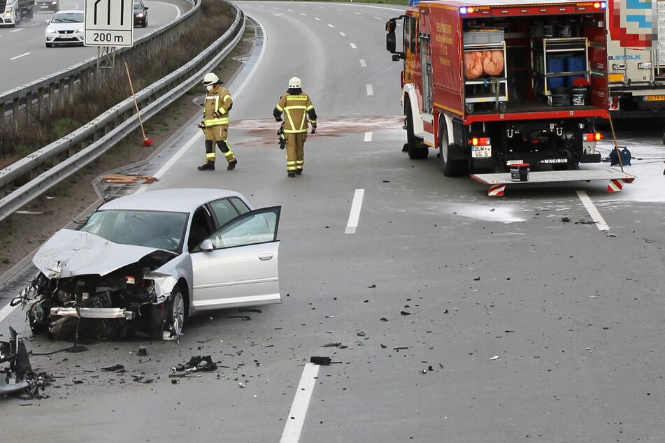 Nach schwerem Unfall am Dienstagabend: Die A6 in Fahrtrichtung Mannheim wurde voll gesperrt.