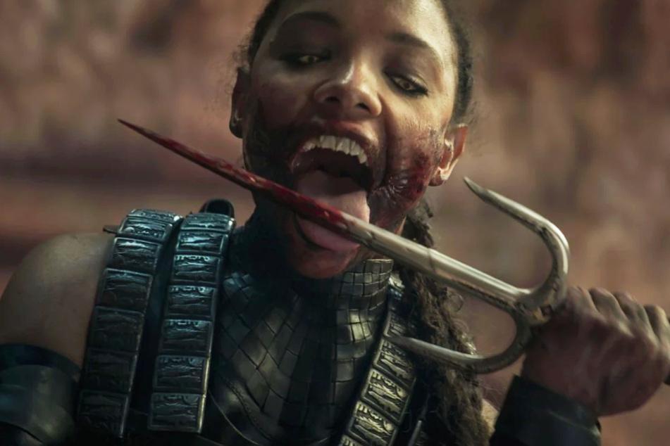 """Auch Mileena (Sisi Stringer) darf ihre Kampffähigkeiten in der Videospielverfilmung """"Mortal Kombat"""" unter Beweis stellen."""