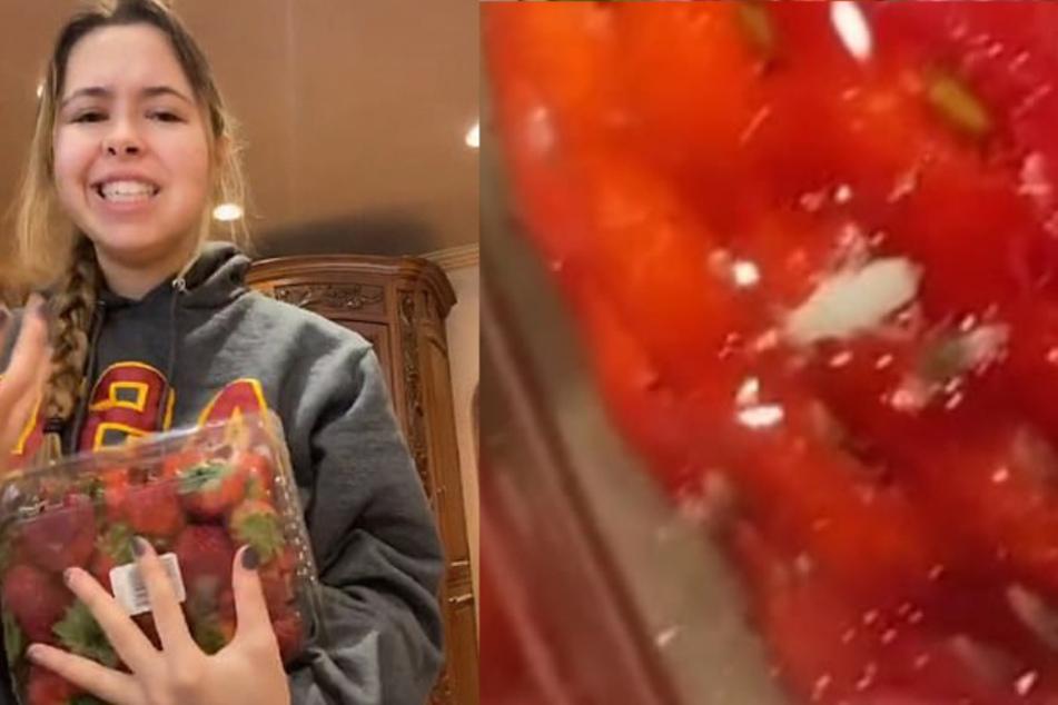 Auch aus Userin 31toni Erdbeeren kroch ein Wurm hervor.