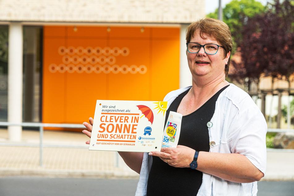 """Die Leiterin der """"Sonnenchecker-Schule"""" Regine Rogalla (55) macht sich für das Projekt stark."""