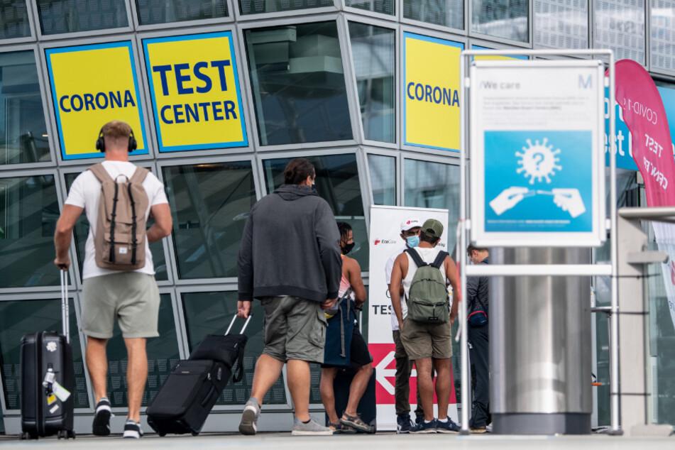 Das Corona-Testcenter am Flughafen München.