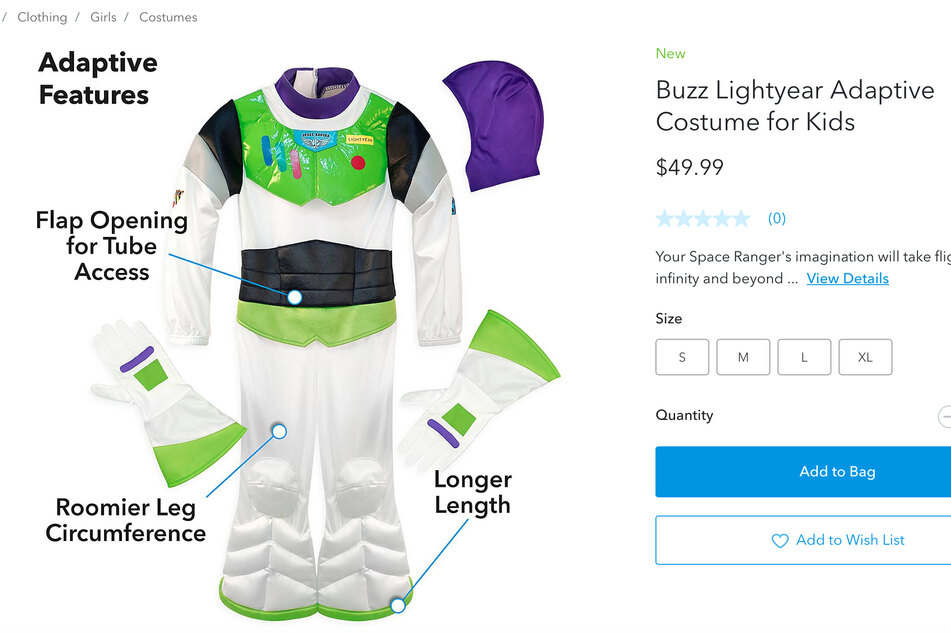 """Das """"Buzz Lightyear""""-Kostüm inspiriert von dem Klassiker Toy Story."""