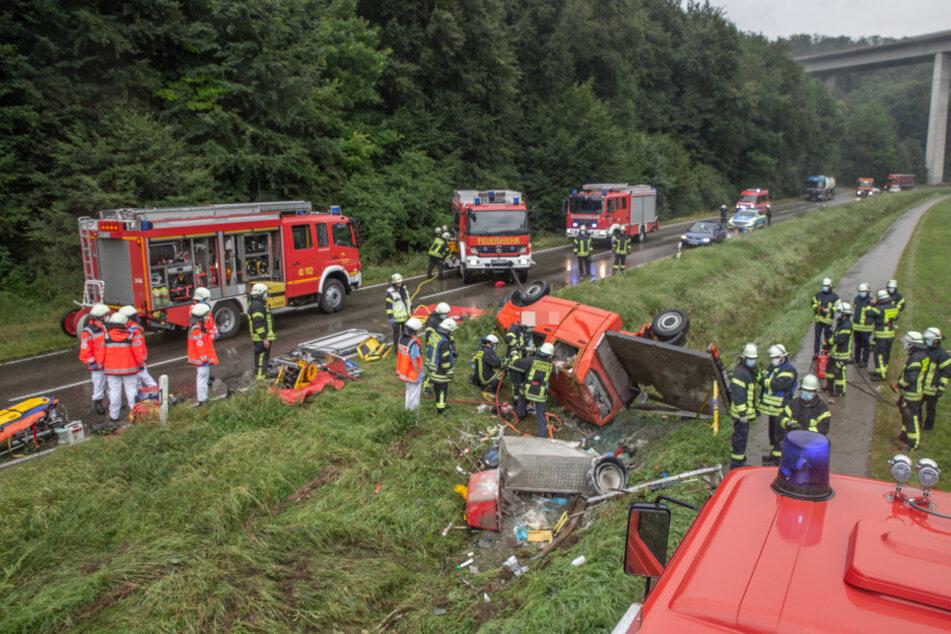 Ein Überblick über die Unfallstelle.