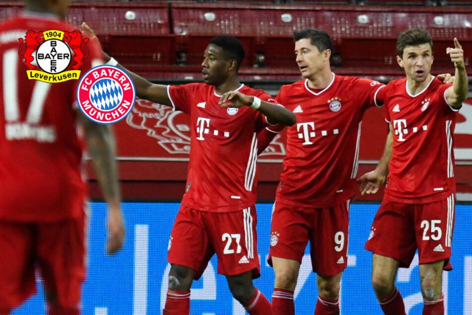 Lewandowski schießt den FC Bayern in Leverkusen zum Last-Minute-Sieg!