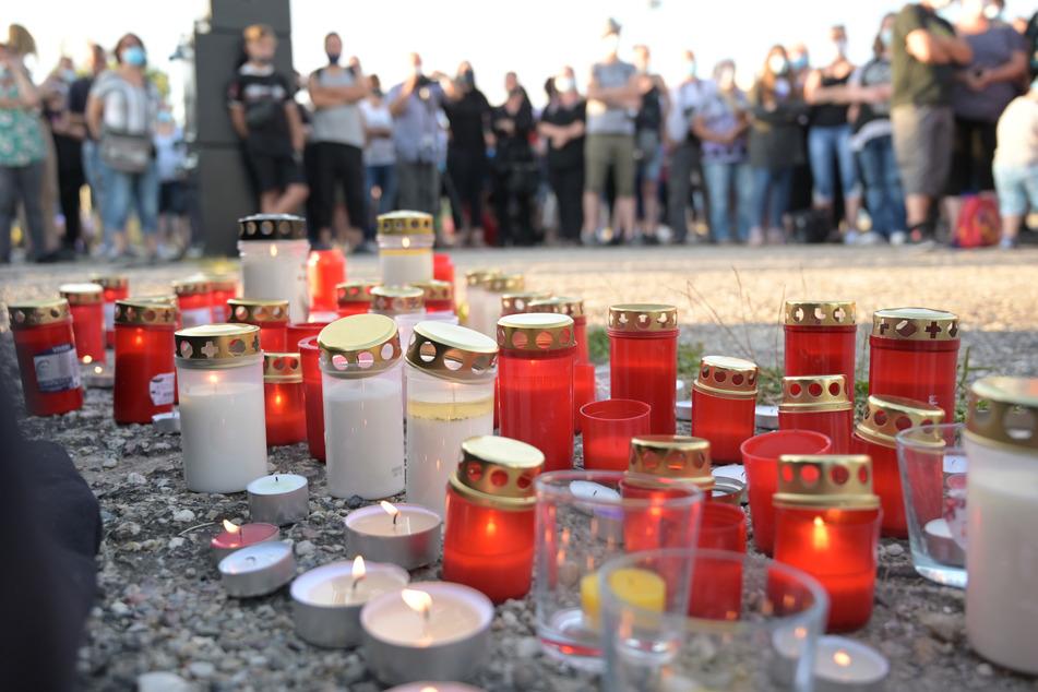 Viele Kerzen brannten bei der Gedenkveranstaltung.