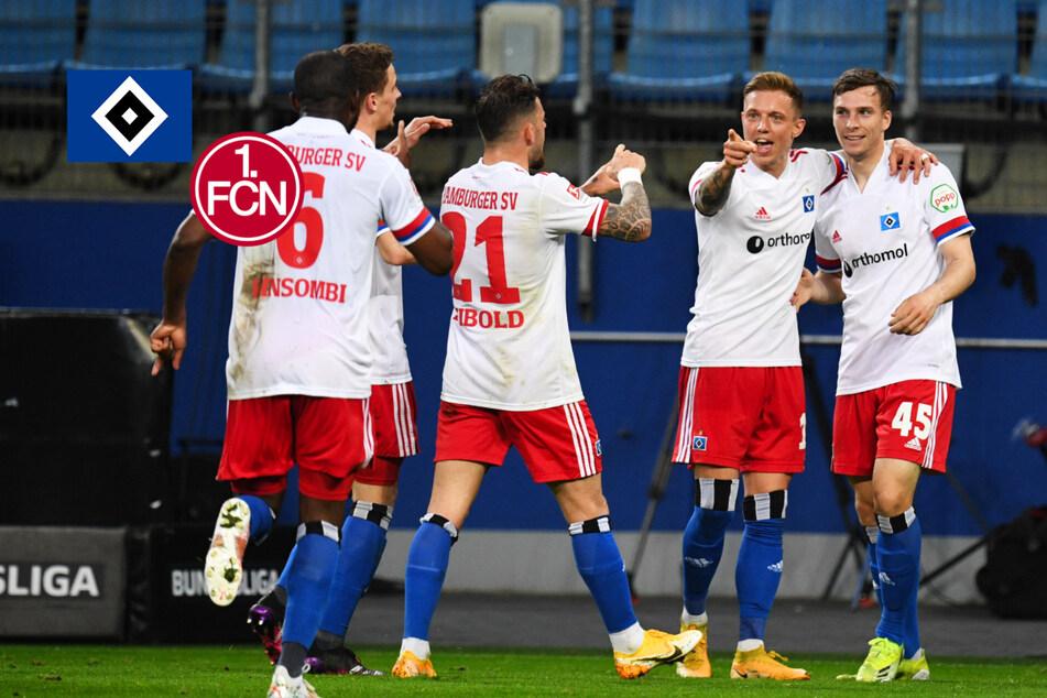 Aufstiegschance lebt! HSV schießt bei Hrubesch-Debüt Nürnberg ab!