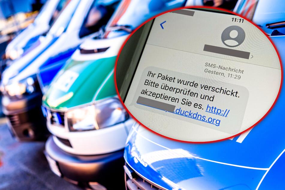 """Fotomontage: Wenn Ihr eine SMS mit diesem Text und einem Link mit der Endung """"duckdns.org"""" erhaltet, löscht sie sofort!"""