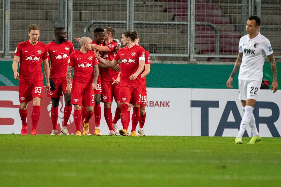 RB Leipzig 3, FC Augsburg 0: Mit einem souveränen Sieg zogen die Sachsen am Dienstagabend ins Achtelfinale des DFB-Pokal ein.