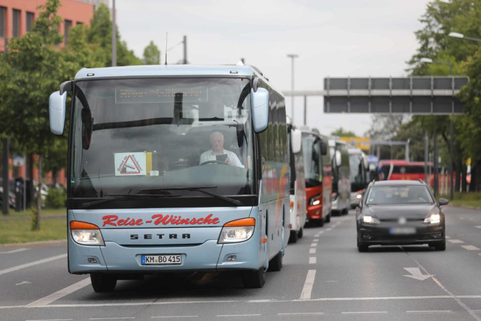 Der Buskorso auf dem Weg in die Innenstadt.