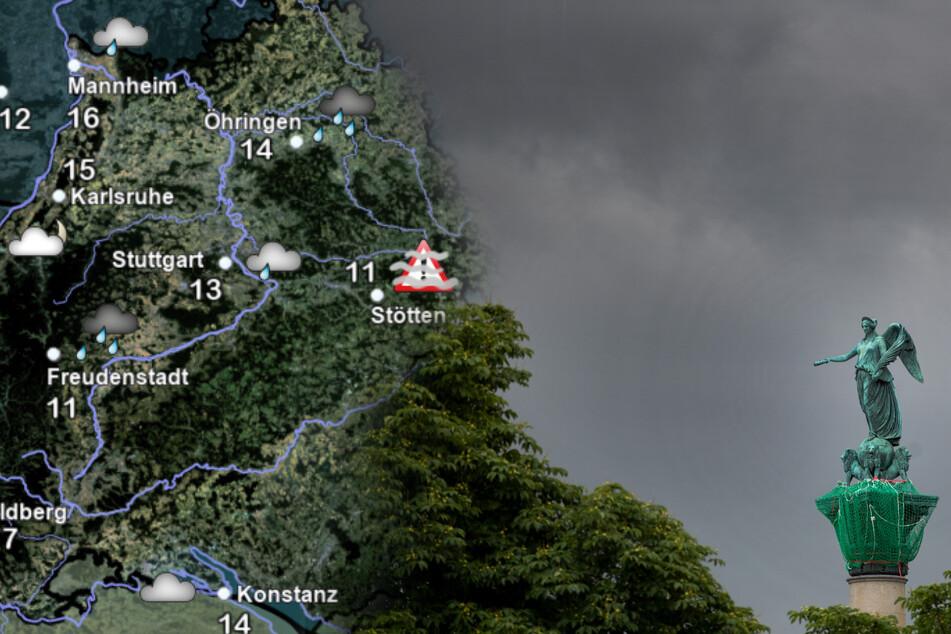 So ungemütlich wird das Wetter in Baden-Württemberg