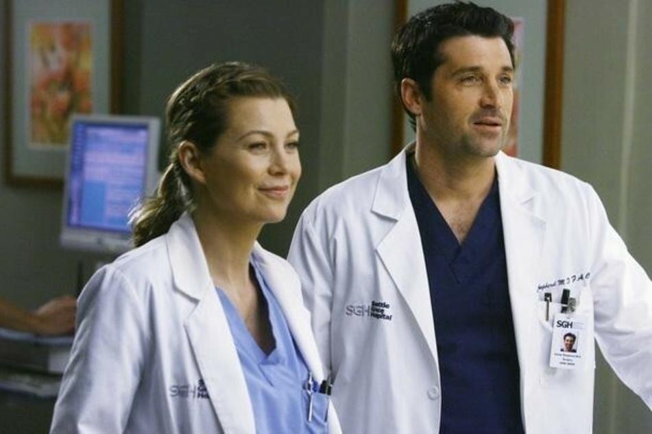 """Ellen Pompeo und Patrick Dempsey in der viertel Staffel von """"Grey's Anatomy""""."""