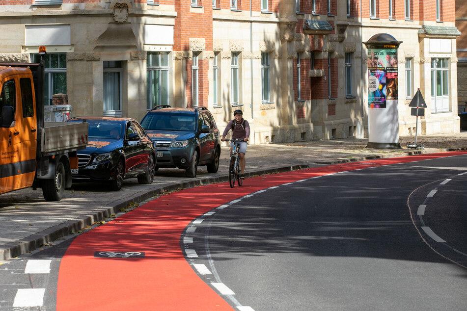 Wegen des neuen Radweges fehlen an der Wernerstraße Parkplätze.