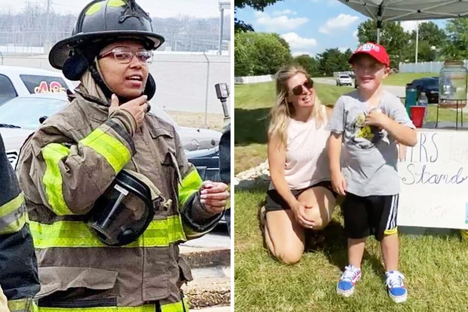 Feuerwehrfrau angeschossen: 5-Jähriger sammelt enorme Spenden mit Verkauf von Limonaden!