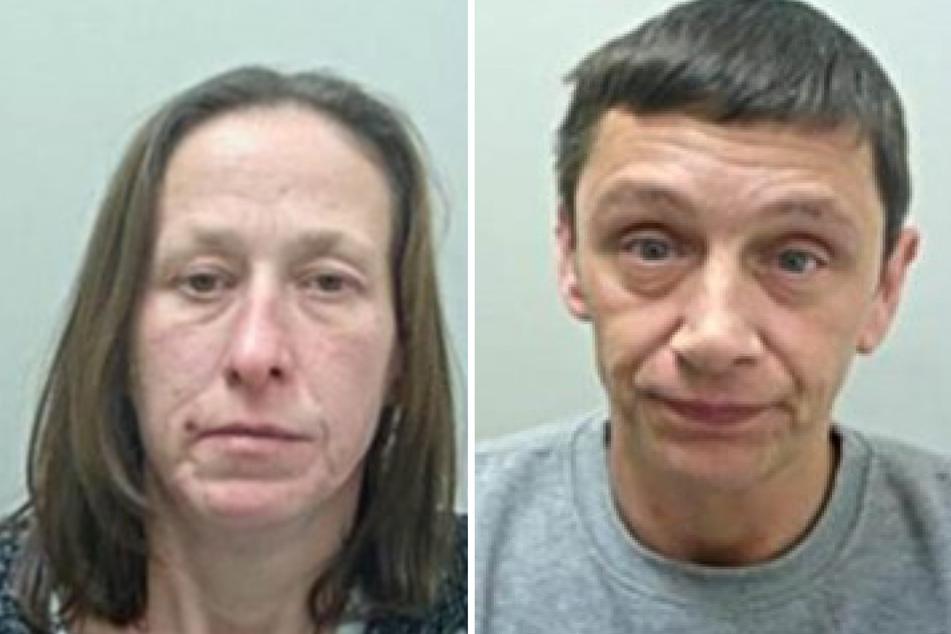 Kelly Cassidy (42, l.) und Steven Morris (45, r.) versprachen dem blinden Ronald Crowther (87) zu helfen. Stattdessen beklauten sie ihn.