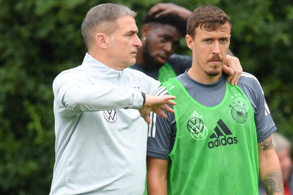 Olympia-Trainer Stefan Kuntz (58, l.) beim Abschlusstraining mit Max Kruse (33): Unions Topscorer hat sich erneut ausführlich zum Thema Rassismus geäußert.