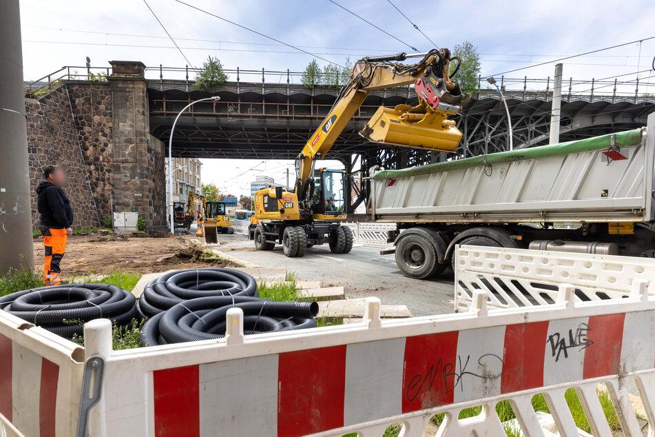Baustellen Chemnitz: Wegen des Hochwassers 2013: Annaberger Straße teilweise gesperrt