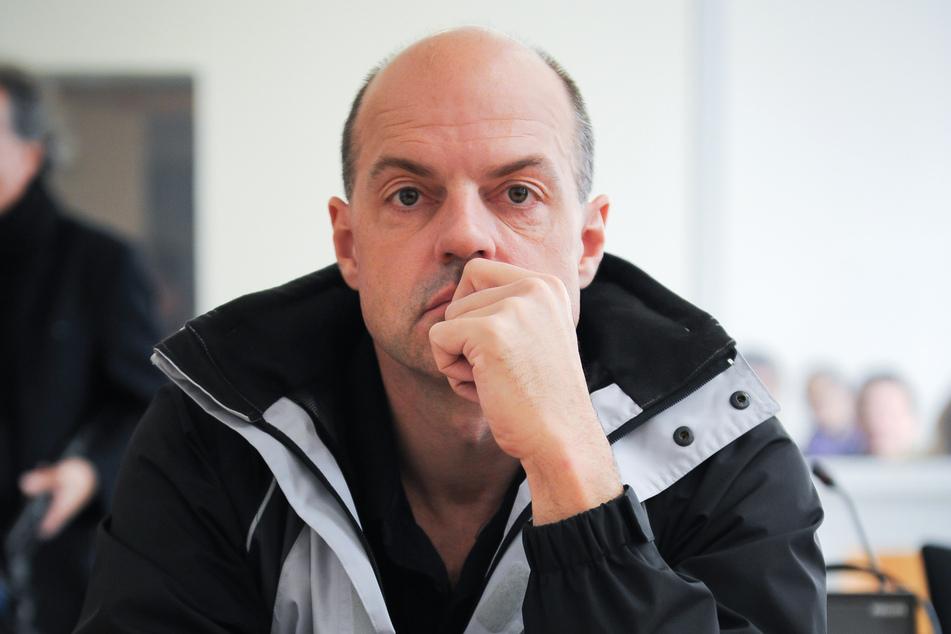 Der frühere Reemtsma-Entführer Thomas Drach (60) während einer Verhandlung des Landgerichts.