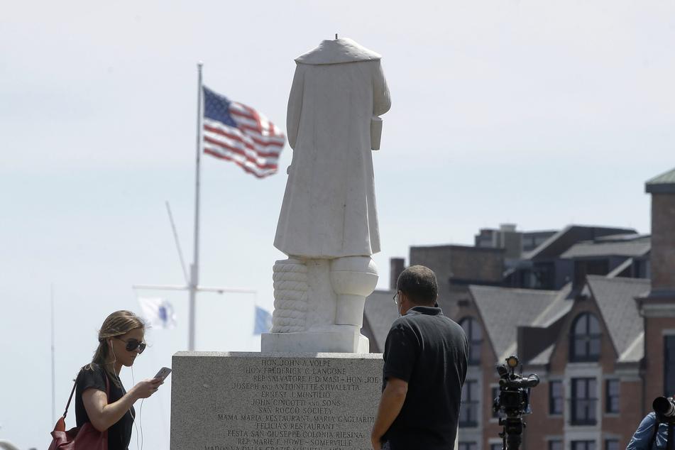 Kolumbus-Statue geköpft: Figur soll abgebaut werden