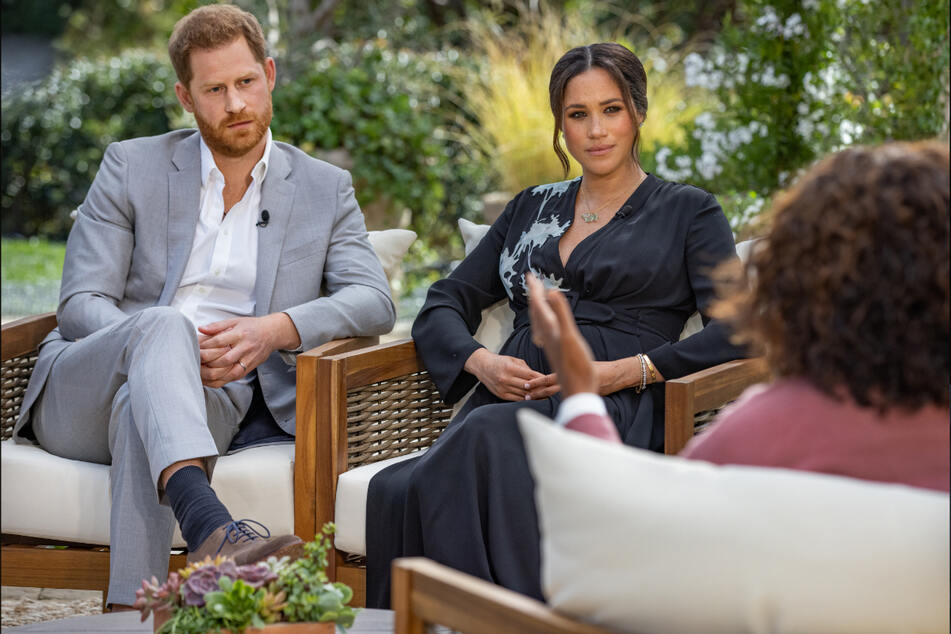 Oprah Winfrey (r.) sprach im Februar mit Prinz Harry und seiner Ehefrau, Herzogin Meghan. (Archivbild)