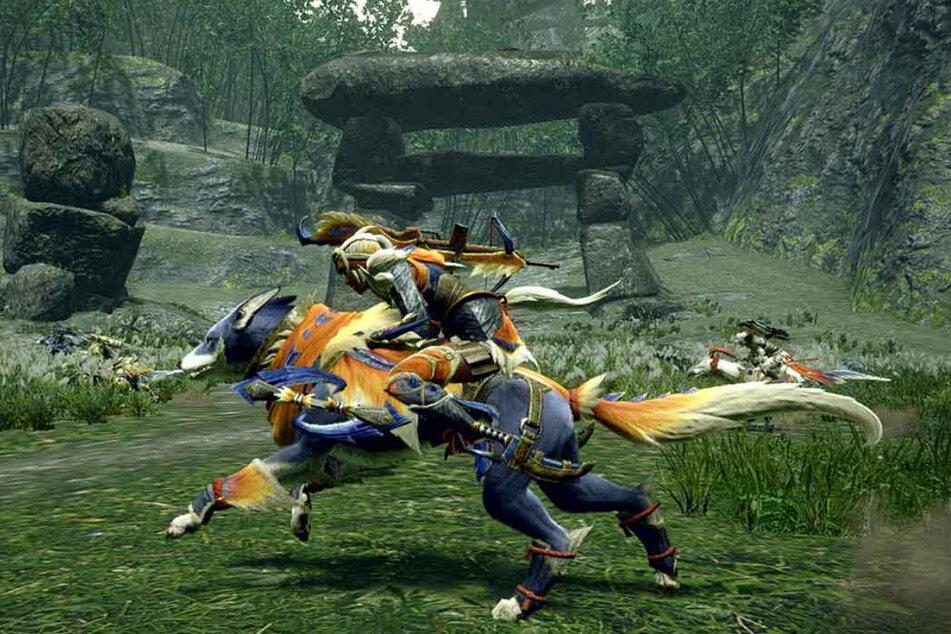 """In """"Monster Hunter Rise"""" könnt Ihr nun offenbar auch Reiten - und das nicht nur auf den Monstern, die Ihr jagt."""