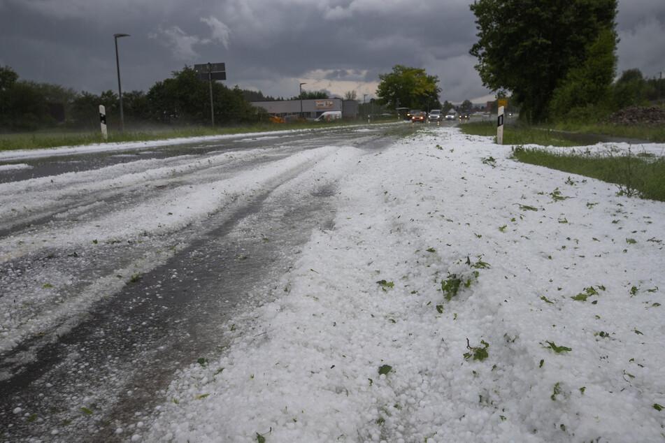 In Kirchheim/Teck hagelte es.
