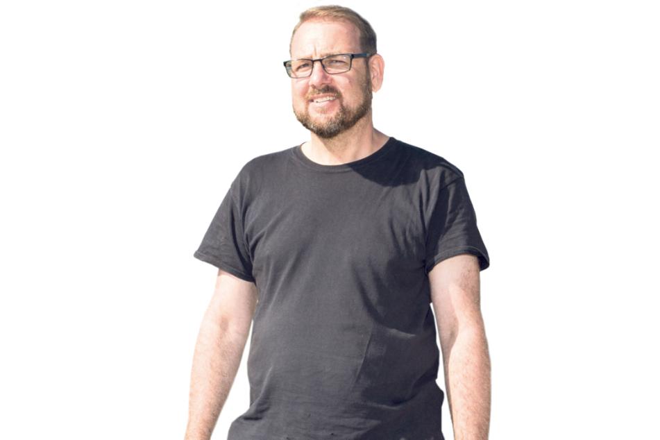 """Jörg Eichhorn (50) leitet den Aufbau. """"Schön, dass wir endlich mal wieder ran dürfen nach den vielen Wochen ohne Events."""""""