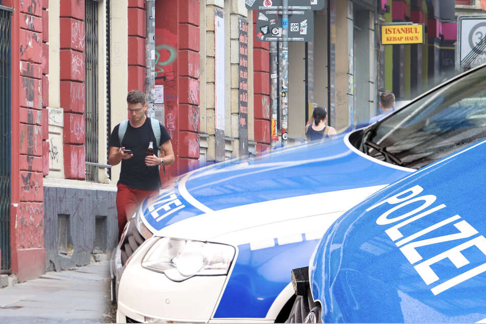 Razzia, Raub und schwer verletzter Mann in der Dresdner Neustadt