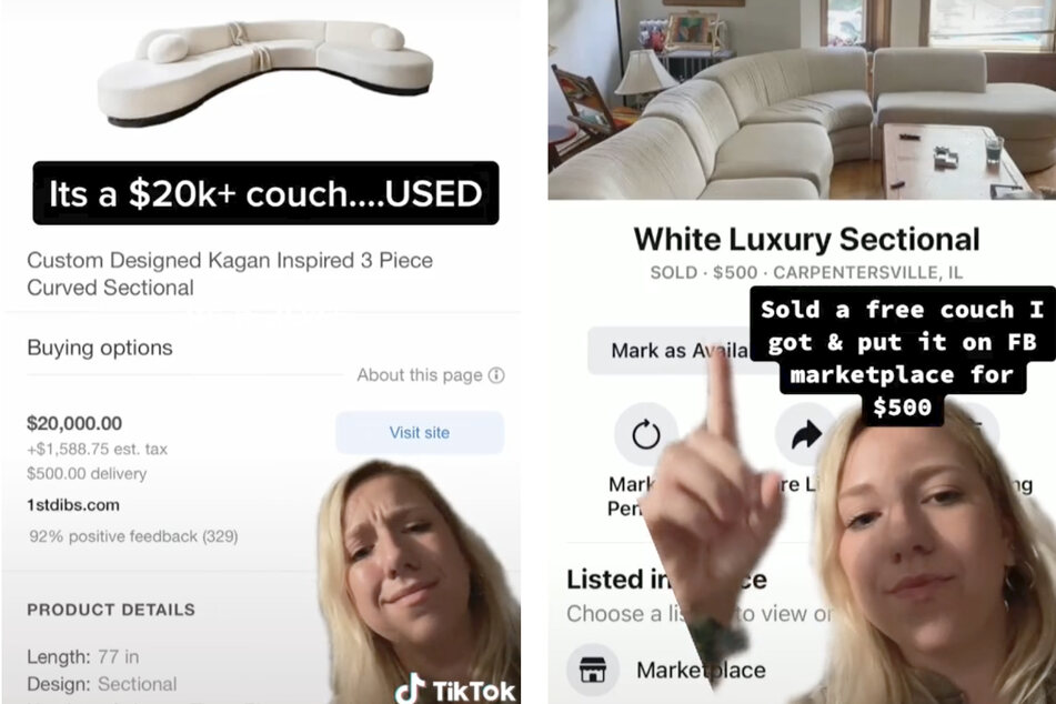 TikToker finds out the incredible value of the sofa she sold for only $500!
