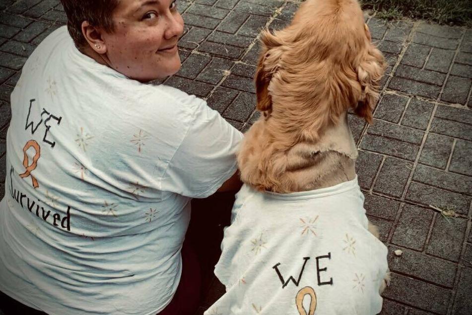 Samantha Casson und Hund Lily haben beide den Krebs besiegt.