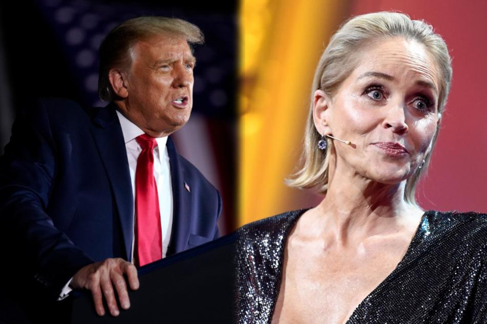 Sharon Stone findet Merkel großartig und schämt sich für Trump
