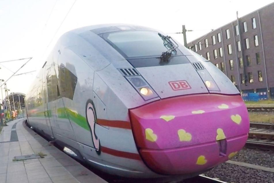 Eigentlich mag die Bahn keine Graffiti, doch hier kommt die Ausnahme