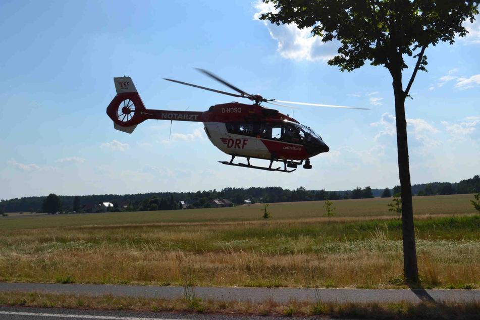 Ein Notarzt wurde eingeflogen.