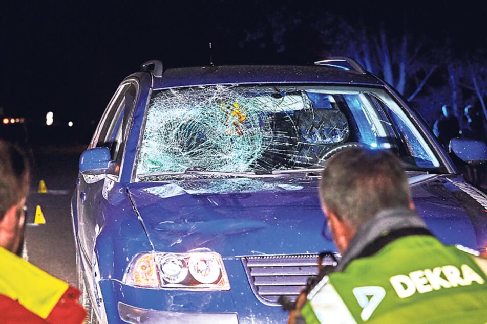 Der Passat wurde nach dem Unfall sofort vom Gutachter inspiziert.