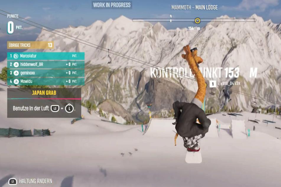Am Beta-Testwochenende konnte man sich unter anderem im Giraffen-Kostüm mit der Online-Community messen.