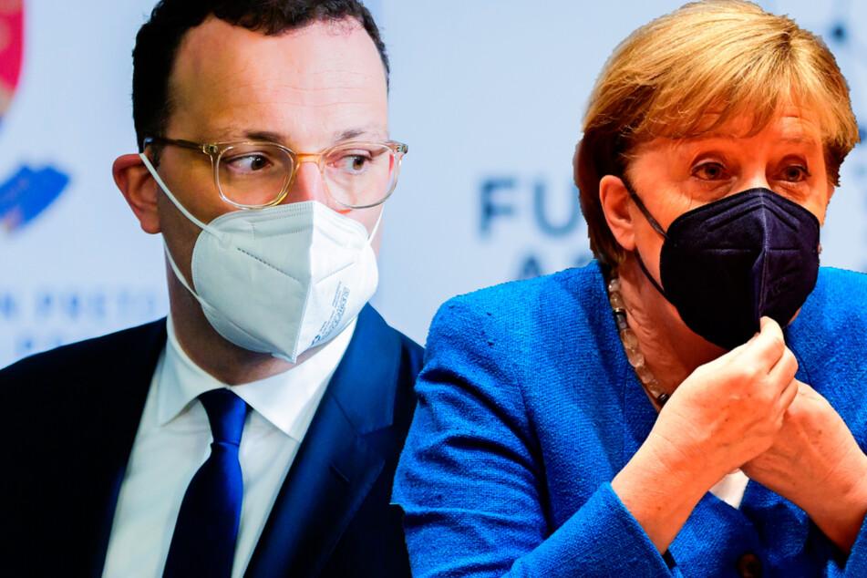 Kanzlerin Angela Merkel und Gesundheitsminister Jens Spahn (beide CDU) haben auf die Bedeutung der Impfungen hingewiesen. (BIldmontage)