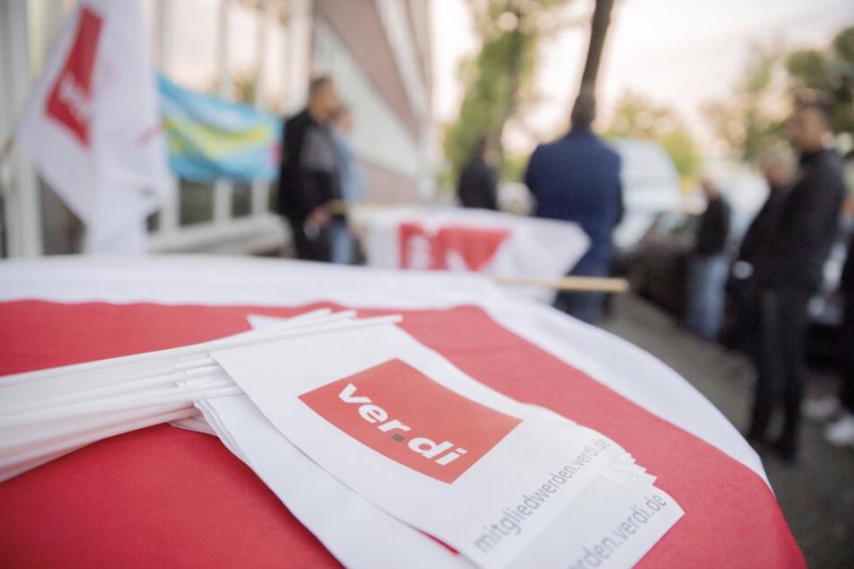 Die Gewerkschaft ver.di unterstützt die Streikenden in ganz Sachsen. (Symbolbild)