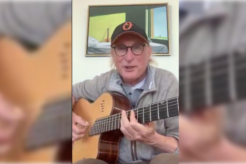 Der 71-Jährige nutzt die Zeit um öfter wieder zur Gitarre zu greifen.