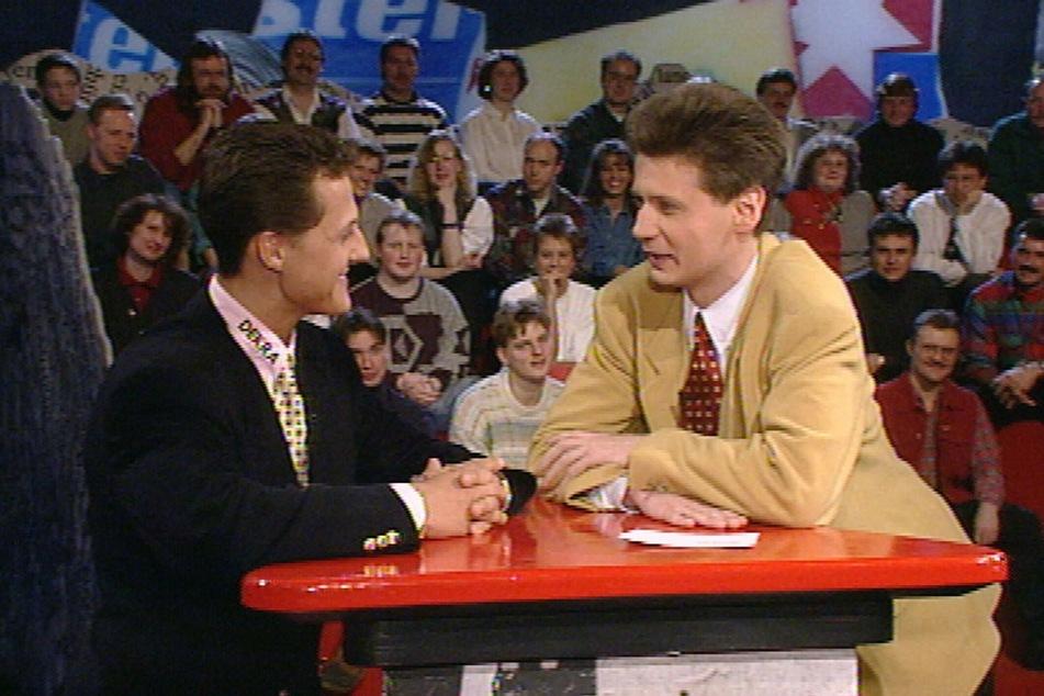 Den beigen Anzug aus dem Gespräch mit Michael Schumacher (51) 1994 lässt Güther Jauch (64) heute lieber im Schrank hängen.