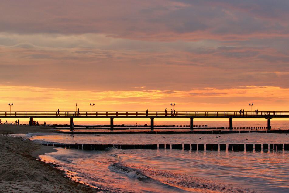 Der Strand von Kühlungsborn in der Nähe von Rostock.