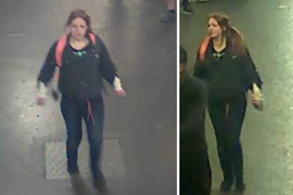 Mit diesen Fotos sucht die Polizei nach der Tatverdächtigen.