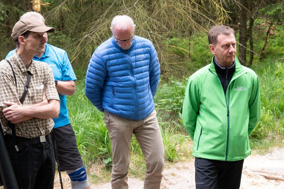 Kaputte Wege in der Sächsischen Schweiz: Kretschmer will dem Nationalpark helfen