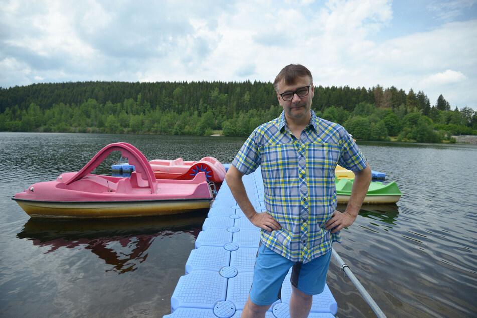 An Stefan Körners (54) Bootssteg trieben Einbrecher ihr Unwesen.