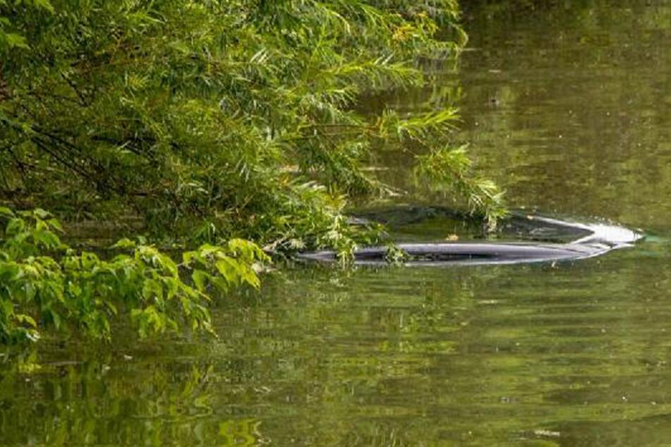 Unfreiwillig abgetaucht: Hier schwimmt ein Audi A4