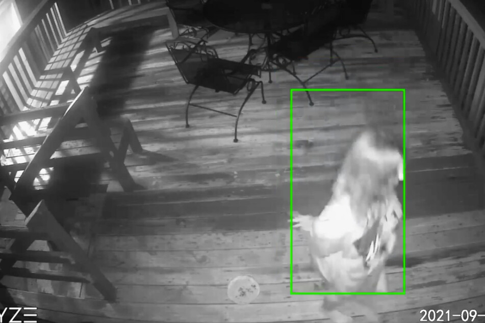 Kansas couple gets scare of a lifetime when a ghostly figure rages on their porch